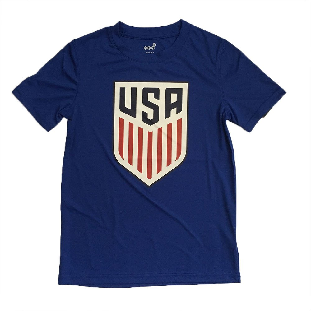 Gen2 US Soccer Youth Blue Performance Crest Shirt