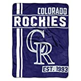 MLB Colorado Rockies Micro Raschel Throw, One Size, Multicolor
