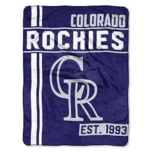 Colorado Rockies Plush (The Northwest Company MLB Colorado Rockies Micro Raschel Throw, One Size, Multicolor)