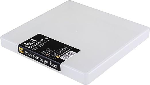WestonBoxes - Caja de almacenamiento de plástico para álbumes de ...