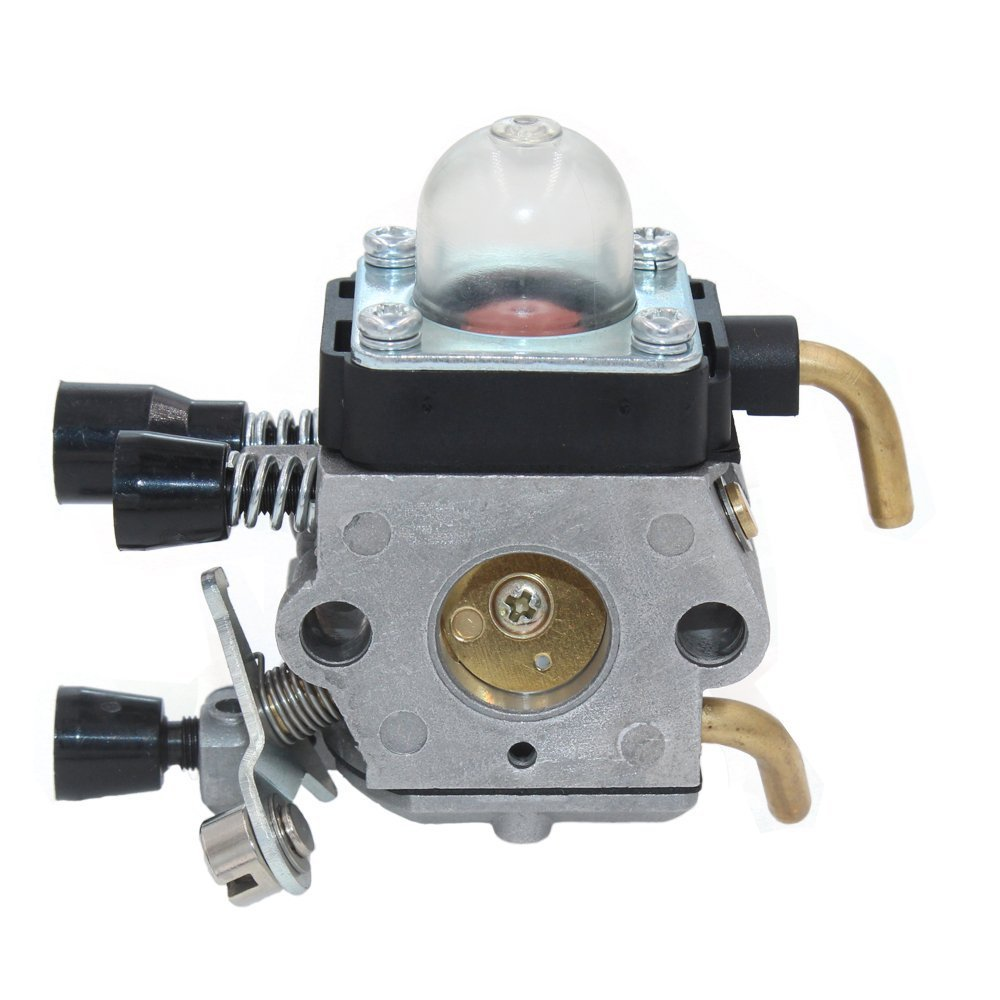 HUZTL C1Q-S97 Carburetor for STIHL FS38 FS45 FS46 FS55 KM55 HL45 FS45L FS45C FS46C FS55C FS55R FS55RC FS85 FS80R FS85R FS85T FS85RX String Trimmer Weed Eater with Air Filter Fuel Line Kit by by HUZTL (Image #3)