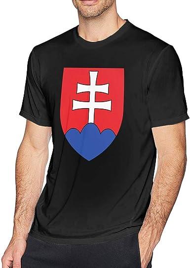 CoA of Slovakia Hombres Novedad Manga Corta Camiseta Algodón Top ...