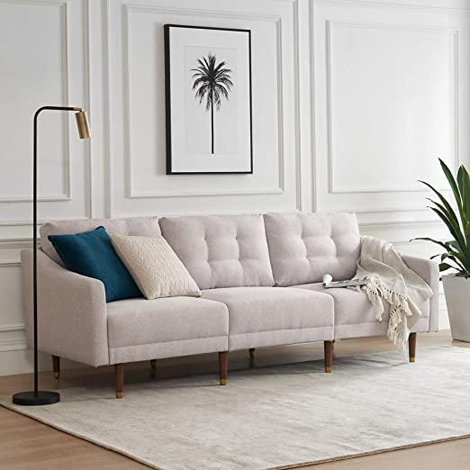 Amazon.com: Mopio Fashion Sofa, Fabric Upholstered Couch with ...