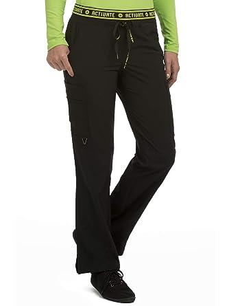 1882b1325d911 Med Couture Activate Scrub Pants Women, Flow Yoga 2 Cargo Pocket Pant,  Black,