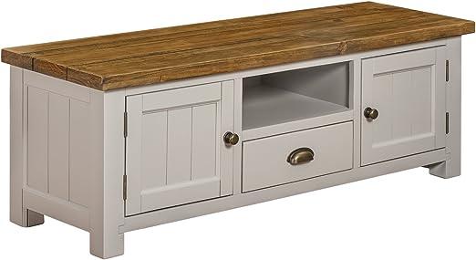 Sala de estar 2 puerta 1 cajón mueble para televisor armario de nuestra gama de pintado a Cotswold muebles rústicos: Amazon.es: Hogar