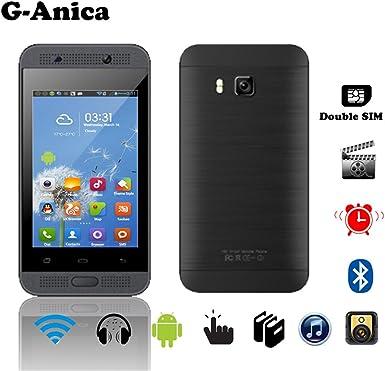 G de Anica 3.5 pulgadas Smartphone (Unlocked sin Contrato) Tablet PC Dual Core Dual SIM phablet Android 4.4.2 2 GB RAM 4 GB ROM Bluetooth Wifi Negro: Amazon.es: Electrónica