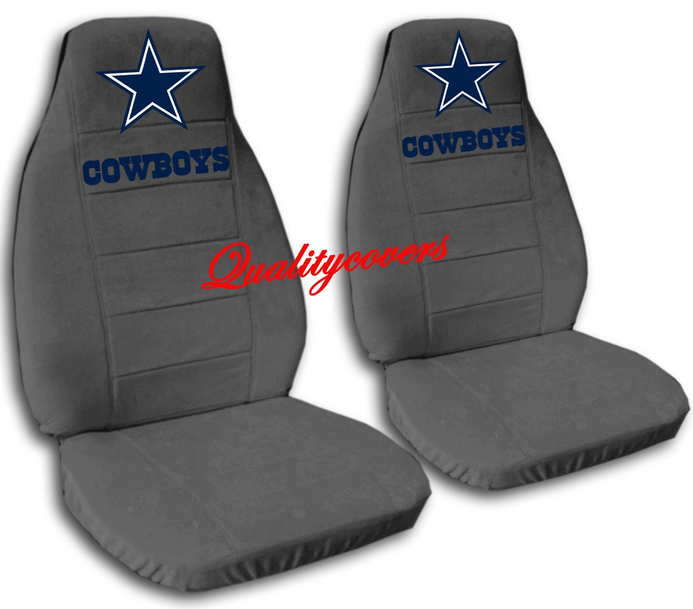 2 Charcoal Dallas seat covers for a 2007 to 2012 Chevrolet Silverado. Side airbag friendly.