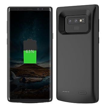 Samsung Galaxy Note 9 Funda Batería, 5000mAh Batería Externa Rechargable Portátil Power Bank Backup Extended Cargador de Batería Funda Protectora Battery ...