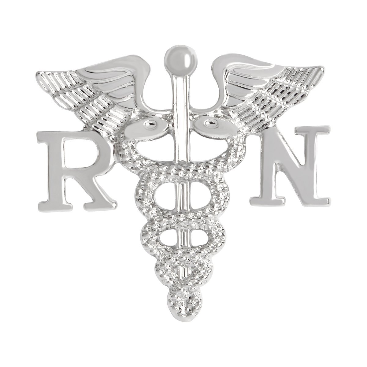 QIHOO Caduceus Angel Nursing Themed Charm Brooch Pin B0756TYRF7_US
