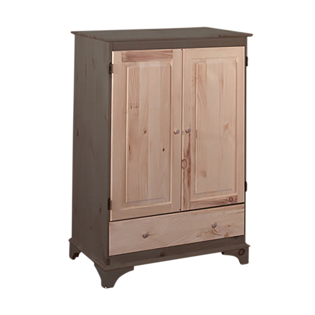 Video Cabinets UnFinished Pine Hadley Video Cabinet Kit