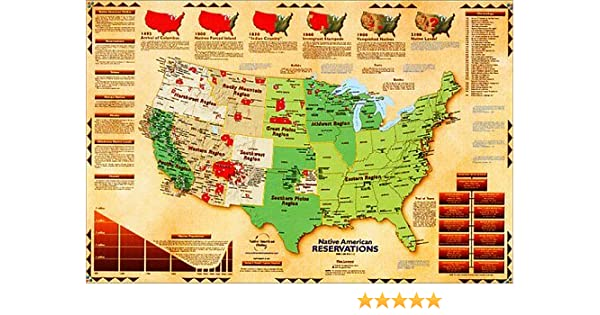 Native American Reservations Map: George Russell: 9781881933113 ...