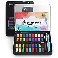 Vagalbox Pintura de Acuarela, con 36 Colores, se combina con lápiz de carbón, Pincel de Acuarela y Papeles de Acuarela para Pintura, diseño artístico y Juegos de Regalo