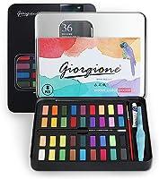 Vagalbox Pintura de Acuarela, con 36 Colores, se combina con lápiz de carbón, Pincel de Acuarela y Papeles de Acuarela...