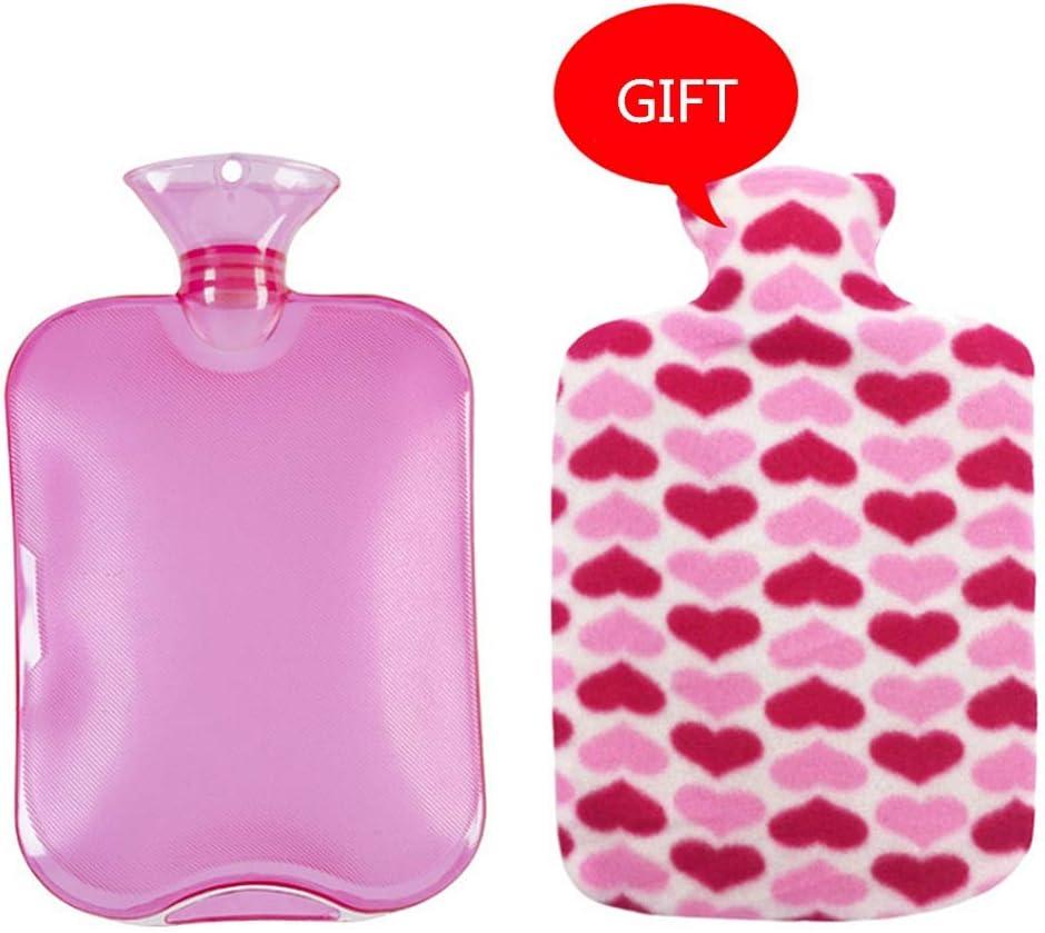 Botella de agua caliente de silicona Bolso botella caliente clásico de PVC de agua fría con la tapa de invierno Volver Cuello mano caliente bolsa de agua caliente relajante calor frío Bolsa