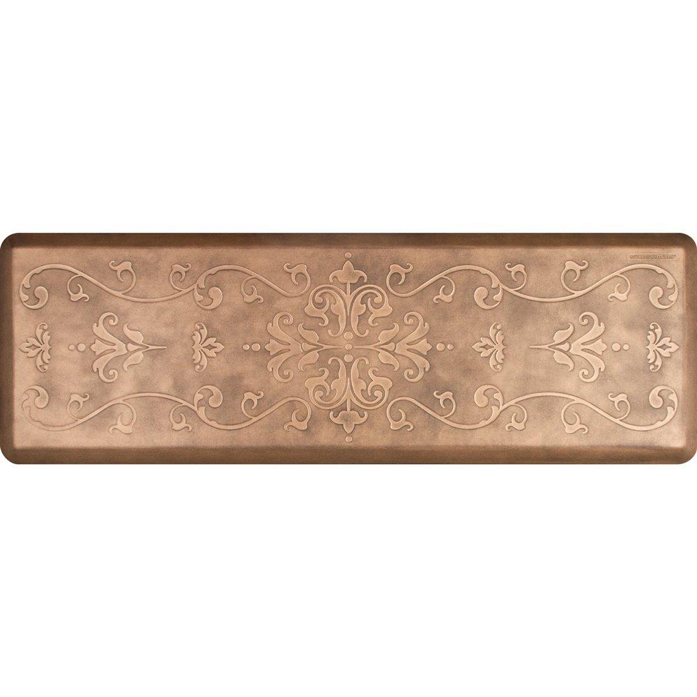 WellnessMats Estates Collection Essential Series Bronze Entwine 6 x 2 Foot Anti-Fatigue Mat