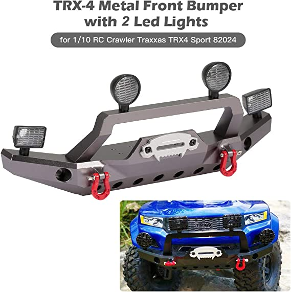 Parachoques delantero de metal TRX-4 con 2 luces LED para ...