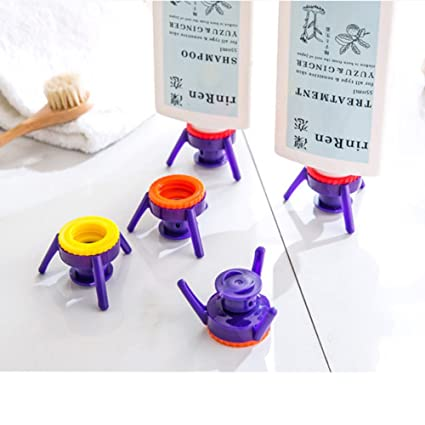 zantec 6pcs invertido botella de plástico botella de tapa a prueba de fugas tapa de recipiente
