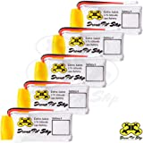 5pcs 3.7V 500mAh Upgrade LiPo Battery For Hubsan X4 H107L H107C H107D H107P H108 - Extra Flight Time - (Walkera Super CP, V252, JXD385, UDI U816A, JJRC H6C, Mini CP, Genius CP, Holy Stone F180C)