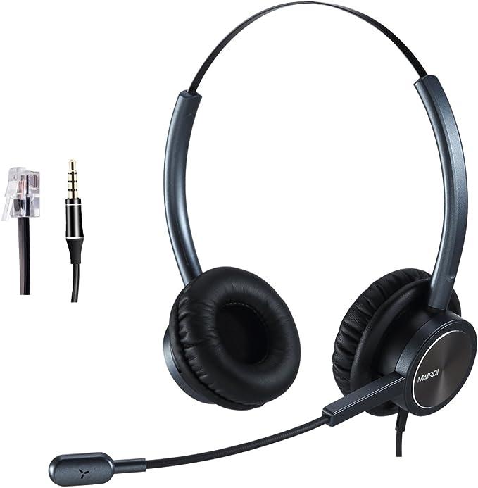 Telephone Headset Callcenter Headset With Noise Elektronik