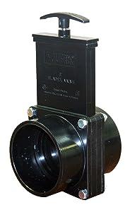 """Valterra 7301 ABS Gate Valve, Black, 3"""" Slip"""