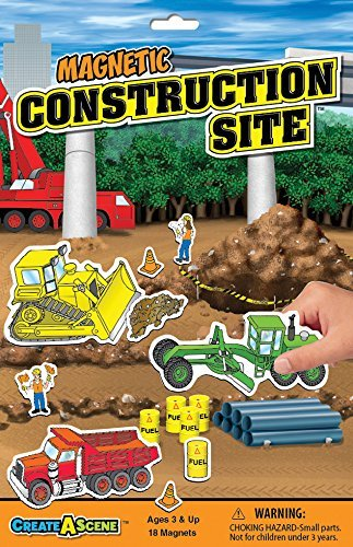 Create-A-Scene Magnetic Playset - Construction Site (Renewed)
