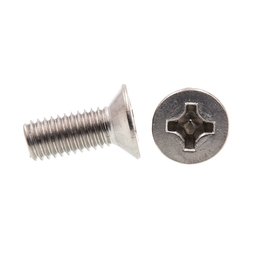 Phillips Drive Metric Prime-Line 9121730 Machine Screws M8-1.25 X 20MM Flat Head 10-Pack Grade A2-70 Stainless Steel