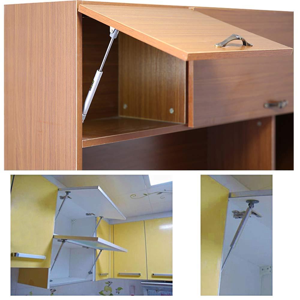 2pcs Pistones a Gas Muebles Cocina Amortiguador Puertas Elevables 100N 10kg 270mm Bisagras Resortes Armario con Tornillos