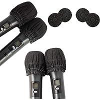 Paquete de 100 fundas desechables para micrófono no tejidas para parabrisas, micrófono de mano, protector de parabrisas…
