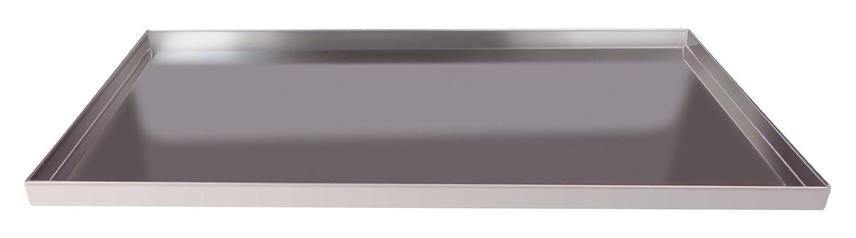Pentole Agnelli COAL49/2D60 Teglia Rettangolare con Orlo, Bordi Dritti, Altezza 2 cm, Lega Alluminio 3003, Spessore 1.5 mm, Argento Pentole Agnelli_COAL49/2D60 teglie; forno