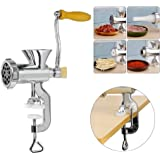 Ogori Hand Crank Manual Meat Grinder with Powerful fixed Base / Heavy Duty with Stainless Steel Blades / Quickly and Effortlessly Grind Meat, Mincer,Vegetables, Garlic, Fruits and Pasta Maker