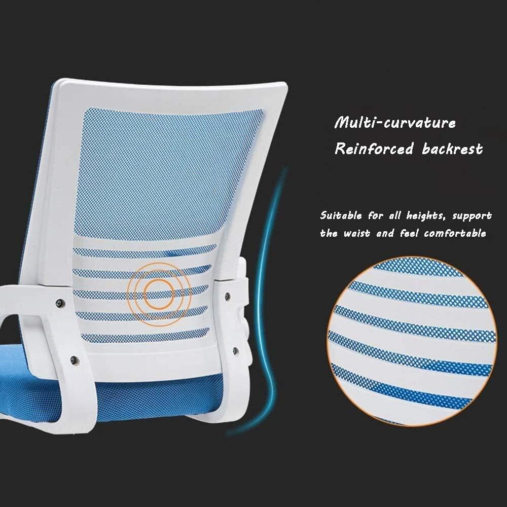 Barstolar svängbar stol konferensstol, lyft 360° rotation räcke justerbar bomull och linne svängbar stol ergonomi hushåll modern enkelhet kontorsstol (färg: B) a
