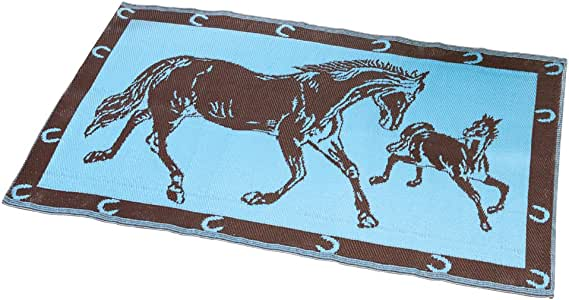Amazon Com Western Horse Reversible Outdoor Patio Mat