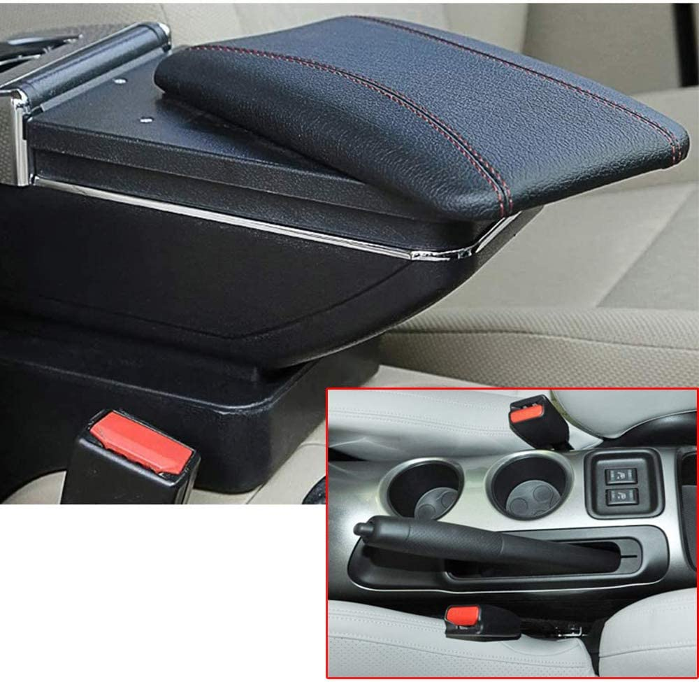 Qinghengyong Replacement for Nissan Juke 2010-2015 Black Auto PU box For Juke central Leather Central Armrest Console Box Handrails