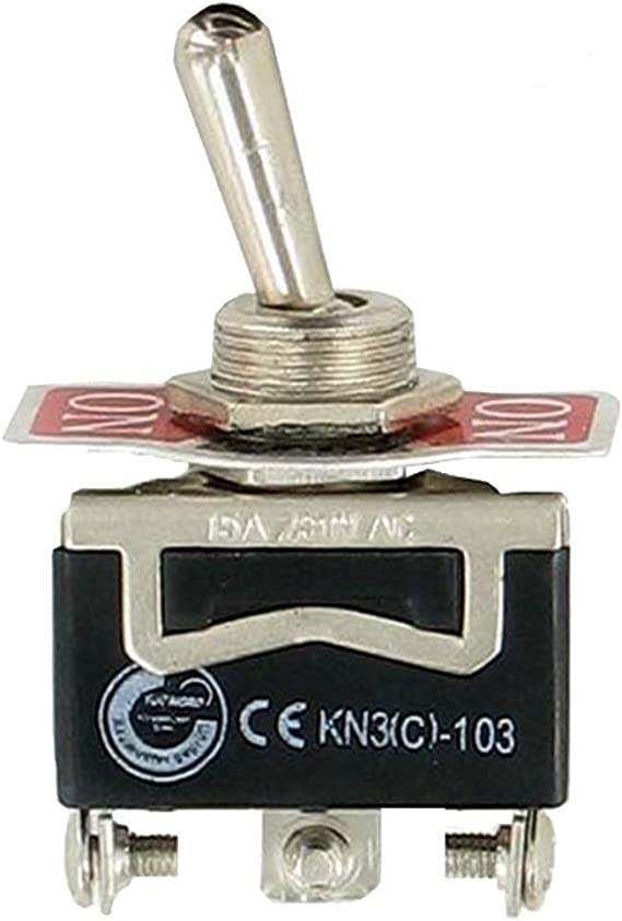 E Support/™ 3 X Interrupteur Inverseur /¨/¤ Bascule Levier en M/¨/¦tal ON//OFF 4 Terminal Pin DPST Poids Lourd 20A 125V 15A 250V bouton casquette