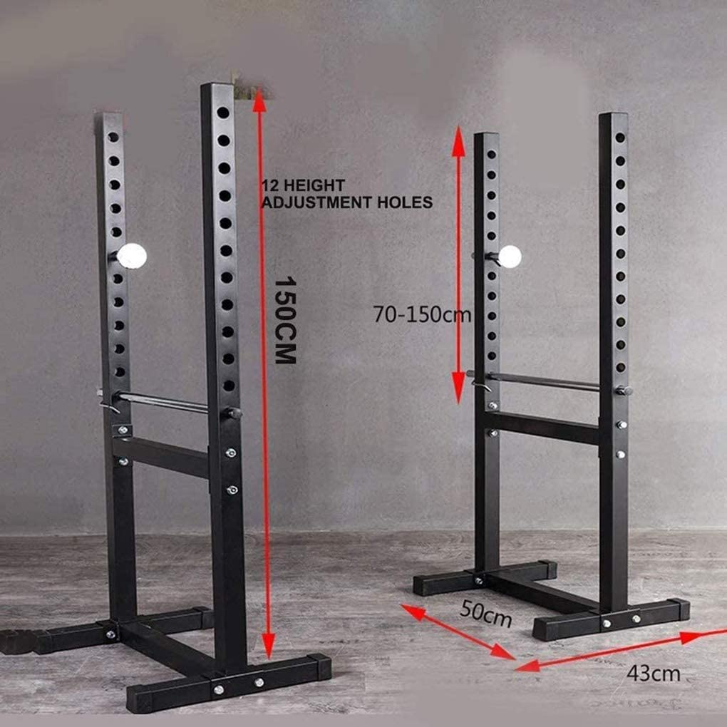 JF Split Squat Rack,Adjustable Barbell Rack,Bench Press Rack Weight Training Equipment Home Fitness Equipment