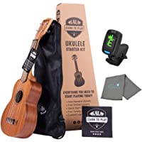 Kala Learn To Play Ukulele Soprano Starter Kit includes Online Lessons, Tote Bag, App & Book Bundle with a Tuner and…