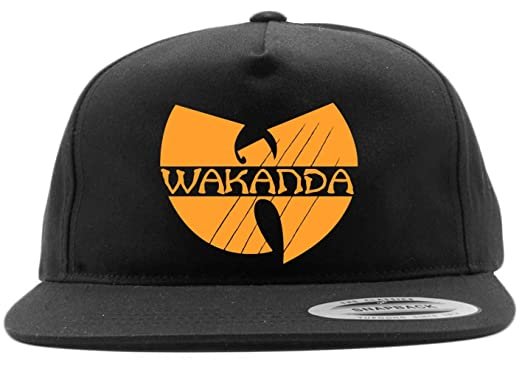 6757d1ab93611 Image Unavailable. Image not available for. Color  Black Snapback Wakanda Wu  Tang Hat