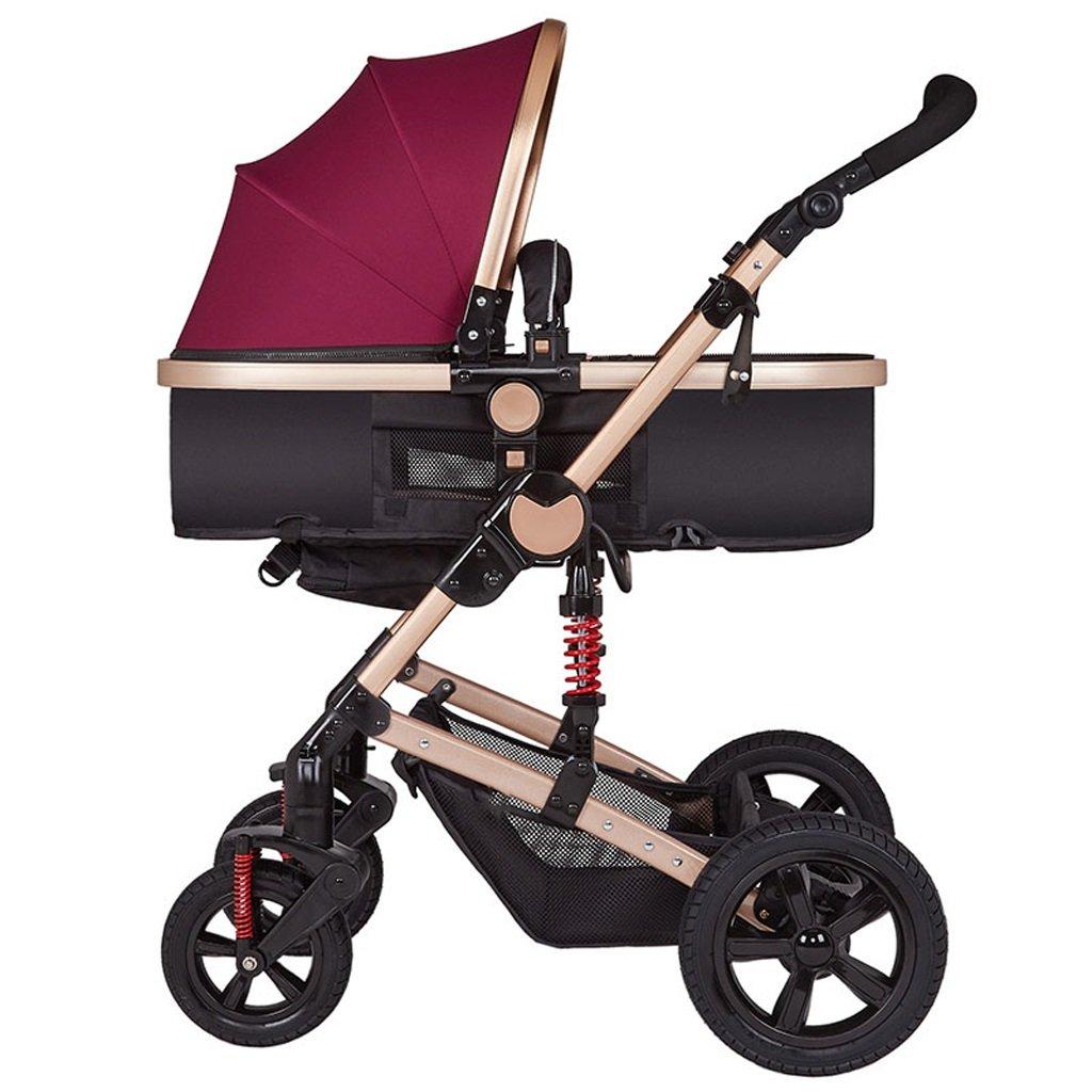 LYM Tricycle & Poussette Poussette Ultra-légère Peut asseoir Pour des hommesonge Parapluie Choc plié Poussette bébé Poussette Scooter Enfant élevé Paysage Poussette ( Couleur   B )