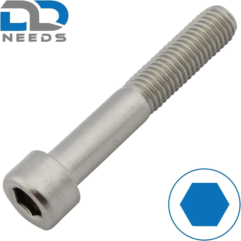 ISO 4762 Zylinderkopfschrauben M5x40 - aus rostfreiem Edelstahl A2 V2A SC912 100 St/ück Zylinderschrauben mit Innensechskant - DIN 912 - Teilgewinde