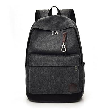 c75f3b9a4f Nutsima Women Men Canvas Backpacks Large School Bags For Teenager Boys  Girls Travel Laptop Backbag Rucksack