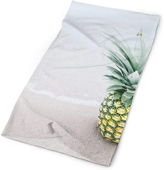 Cool Pineapple On The Beach Unisex Fashion Quick-drying Microfiber Headdress Outdoor Magic Scarf Neck Neck Scarf Hooded Scarf Super Soft Handle
