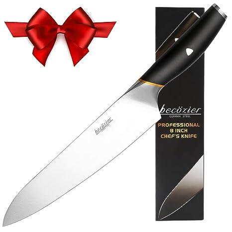 Amazon.com: Cuchillo de chef de 8 pulgadas, cuchillo de ...
