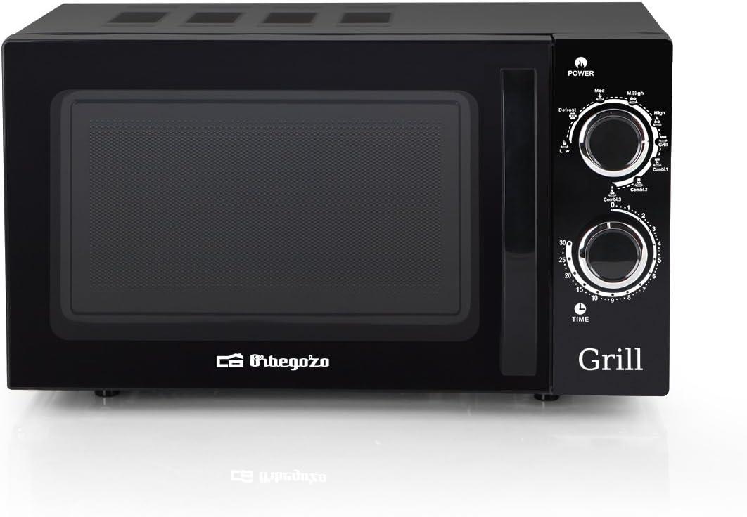 Orbegozo MIG 2031 - Microondas con grill (700 W, 20 L, 9 niveles ...