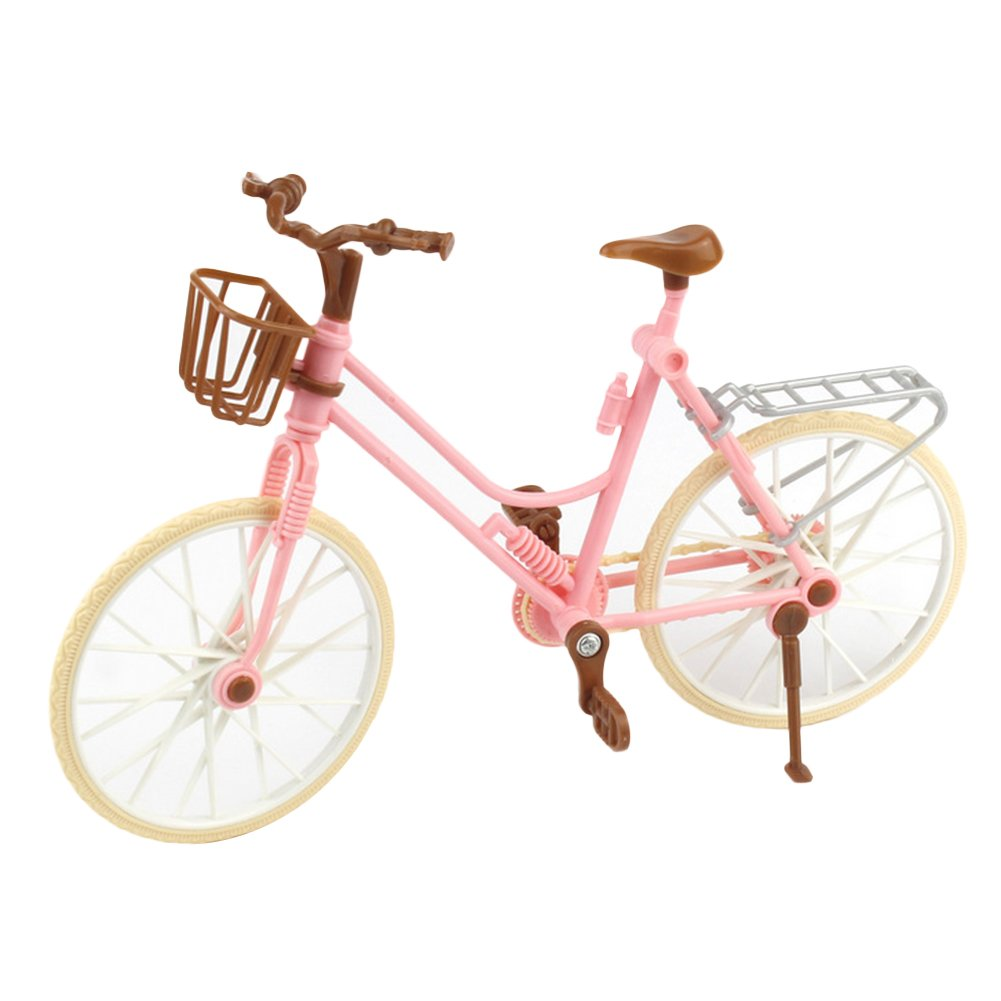 ZHOUBA Finger Simulation Mountain Bike Miniature Bicycle Kids Toys Creative Game Gift (Pink)