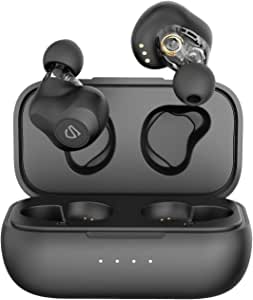SoundPEATS Truengine SE Dual Dynamic Drivers Wireless Earbuds, Bluetooth 5.0 Headphones with Dual Crossovers, APTX Audio CVC Noise Cancellation Built in Mic, in-Ear Earphones with Charging Case, 27 Hours Playtime