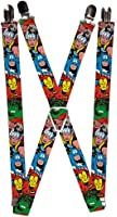 Buckle-Down Marvel Comics Suspenders - Avengers Superheroes Close-up Accessory
