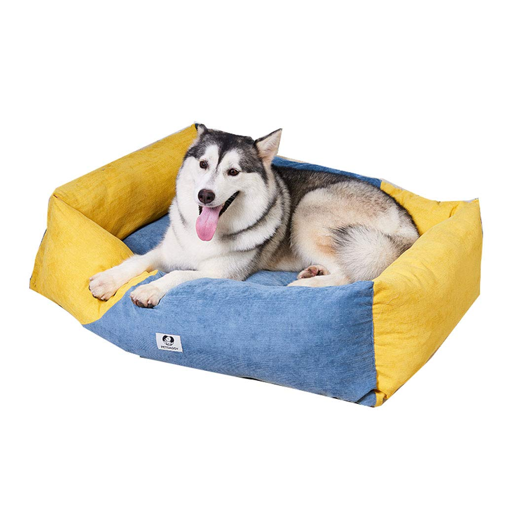 S Removable and Washable Small and Medium-Sized Dog Kennel Dog Bed Cat Litter Pet Nest Dog Mat Easy to Clean (Size   S)