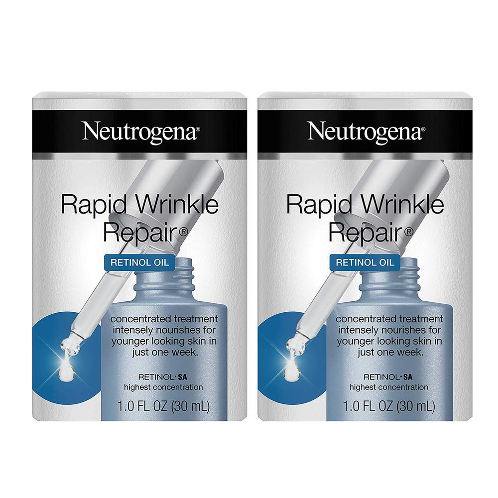 Rapid Wrinkle Repair Face Oil Retinol Serum, 1.0 fl. oz (2 Pack)