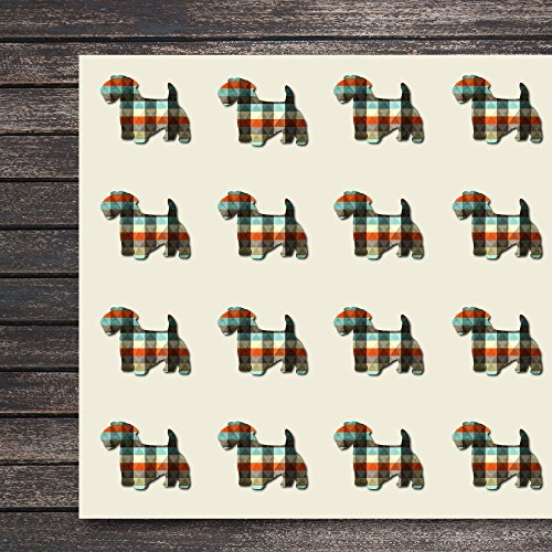Sealyham Terrier Dog Craft Stickers, 44 Stickers at 1.5 Inches, Great Shapes for Scrapbook, Party, Seals, DIY Projects, Item 1321987