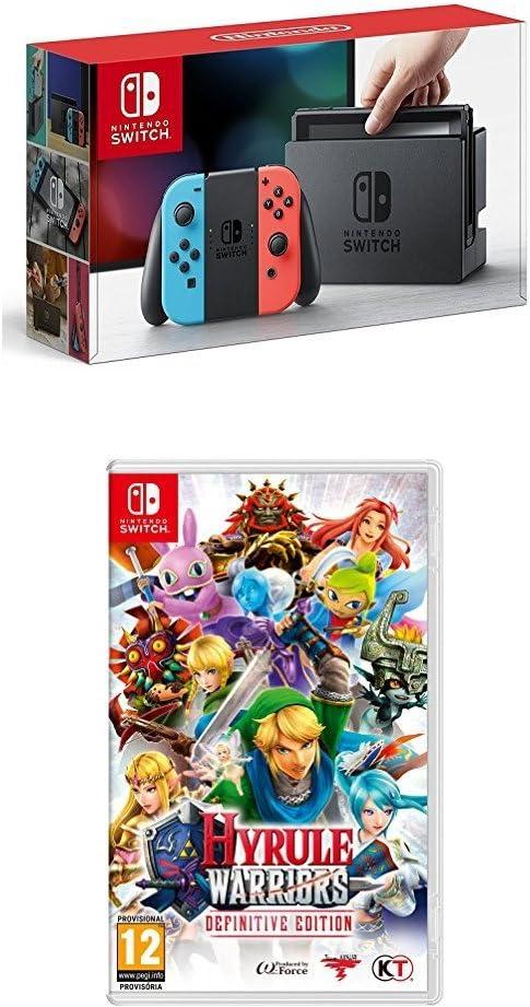 Nintendo Switch - Consola color Azul Neón/Rojo Neón + Hyrule ...